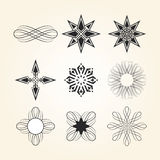 Set of various decorative elements Royalty Free Stock Images