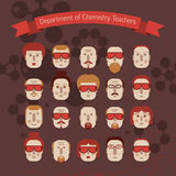 Set of various doodle faces Royalty Free Stock Image