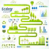 Set of various ecology infographic elements. Stock Images