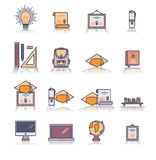Set of various educational vector icons Royalty Free Stock Photo
