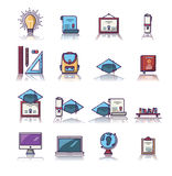 Set of various educational vector icons Stock Image