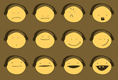 Set of various emotions. Stock Image