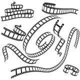 Set of various film strips. For your design vector illustration