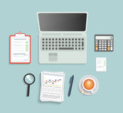 Set of various financial service items Royalty Free Stock Photos