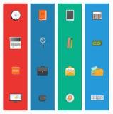 Set of various financial service items Stock Photos