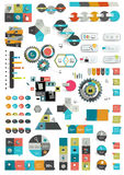 Set of various flat infographic templates. Stock Images