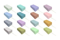 Set of Various Flavored Popsicle Ice Creams Royalty Free Stock Photography