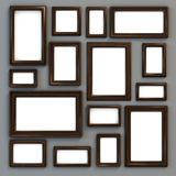 Set of various frames for photographs or paintings Royalty Free Stock Photo