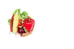 Set of various fresh vegetables and fruits Stock Image