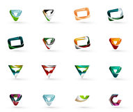 Set of various geometric icons Royalty Free Stock Photography