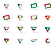 Set of various geometric icons Stock Image