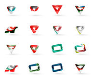 Set of various geometric icons Stock Photo