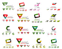 Set of various geometric icons -  rectangles Royalty Free Stock Photo