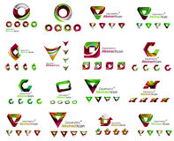 Set of various geometric icons -  rectangles Stock Photo