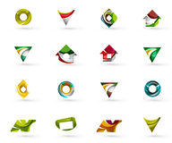 Set of various geometric icons -  rectangles Royalty Free Stock Photography