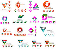 Set of various geometric icons -  rectangles Stock Image