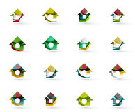 Set of various geometric icons -  rectangles Stock Images