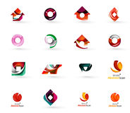 Set of various geometric icons -  rectangles Royalty Free Stock Photos