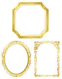 Set of various golden frames - vector Stock Photography