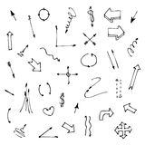 Set of various graphic arrows on a white Royalty Free Stock Photography