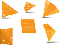 Set of various graphic elements with orange color royalty free illustration
