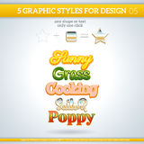 Set of Various Graphic Styles for Design. Royalty Free Stock Photo