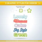 Set of Various Graphic Styles for Design. Set of Various Graphic Styles for Design and other Royalty Free Stock Images