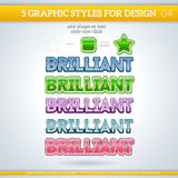 Set of Various Graphic Styles for Design. Royalty Free Stock Images