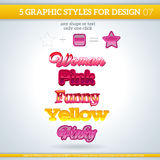 Set of Various Graphic Styles for Design. Royalty Free Stock Photos