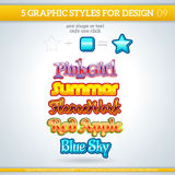 Set of Various Graphic Styles for Design. Stock Photography