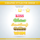 Set of Various Graphic Styles for Design. Set of Various Graphic Styles for Design and other Stock Image