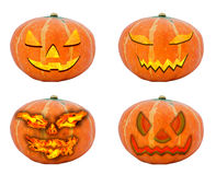 Set with various halloween pumpkins Stock Image