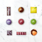 Set of various hand-made candies Royalty Free Stock Photography