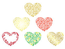 Set of various hearts - vector Stock Image