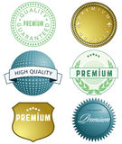 High quality labels Stock Photos