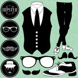 Set of various hipster elements Royalty Free Stock Photos