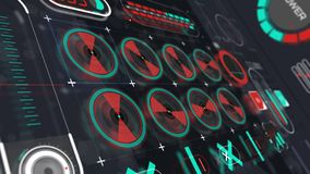 Holographic interface panel animation view 1 stock footage
