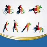 Set of various icon sport or symbol sports colorfu Stock Photo