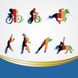 Set of various icon sport or symbol sports colorfu Stock Photo