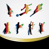 Set of various icon sport or symbol sports colorfu Stock Images
