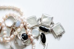 Jewelry On White Stock Image