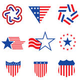 Set of various Made in the USA graphics and labels Stock Image