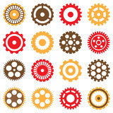 Set of Various Mechanical Gears Royalty Free Stock Photos