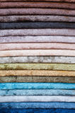 Set of color textiles Royalty Free Stock Photo