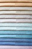 Set of color textiles Royalty Free Stock Image