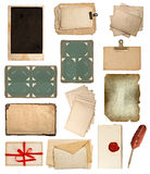 Set of various old paper sheets Royalty Free Stock Photography