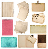 Set of various old paper sheets Royalty Free Stock Photos