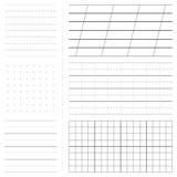 Set of various paper sheet patterns Stock Photography