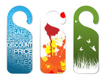 Set of various paper tags Royalty Free Stock Photo