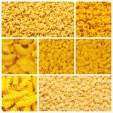 Set of various pasta Royalty Free Stock Image